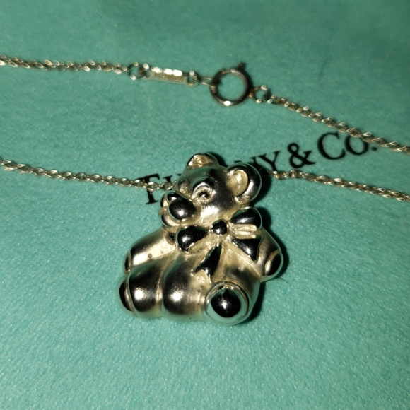 518b0b9fb Tiffany & Co. Jewelry | Tiffany Vintage Teddy Bear Pendant | Poshmark